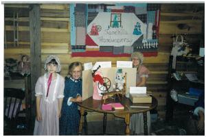 The Sandhills Handweavers at Blue Farm Days in the 1990s