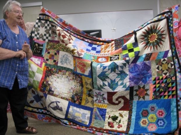 """Caring quilt made for Jessica Goins Hunt by Randolf Quilters Guild, Asheboro, NC"""
