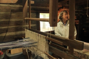 The 180-year-old loom at the Shaw is still in good working condition.