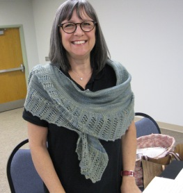 Jackie's beautiful lace scarf