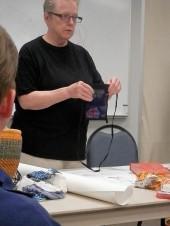 Sarah demonstrates the art of Omiyage