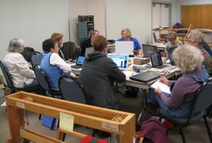 Sandhills Handweavers Guild fiber workshop study session