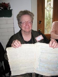 Sarah and woven paper mat