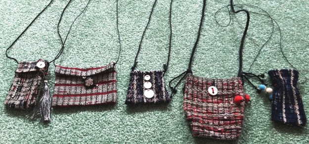 Jackie's little woven bags