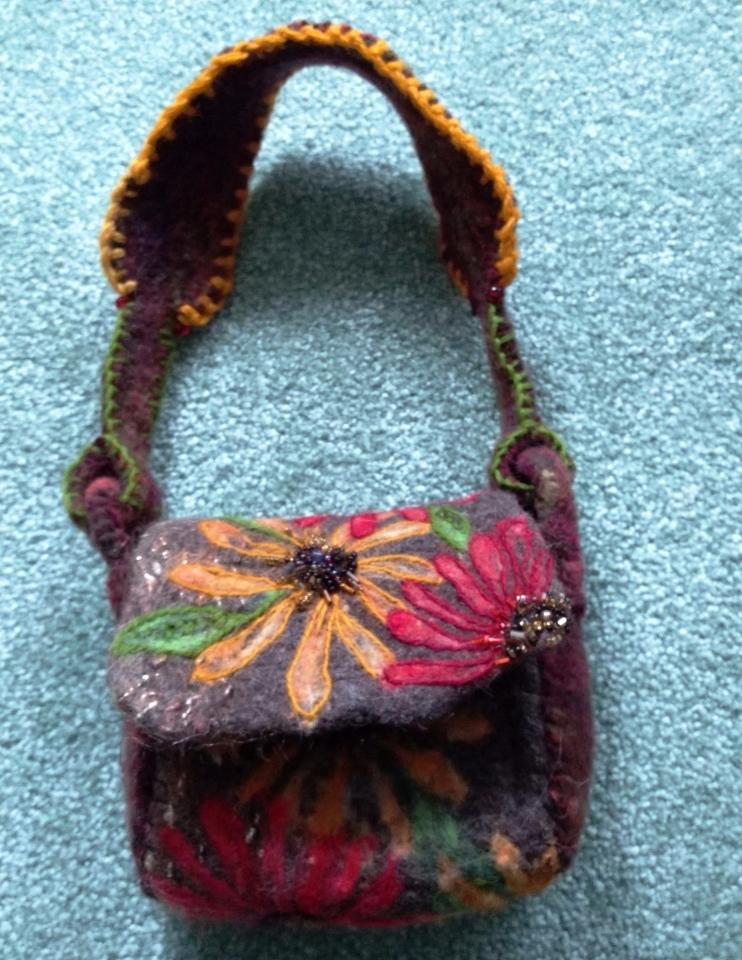 Teresa's felted purse