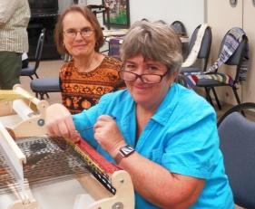 Deborah and Lynn share their space