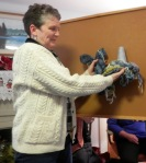 Kathy has been working on a slow cloth scarf