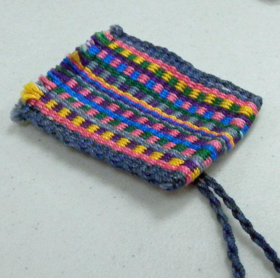 Teri's little Inkle loom purse