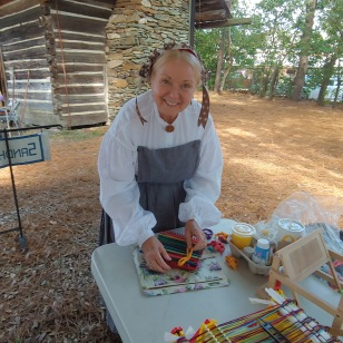 Cindy volunteering at Shaw House Heritage Fair