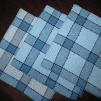 Jacque's monochromatic blue napkins