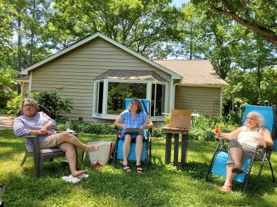 Discussing upcoming meetings