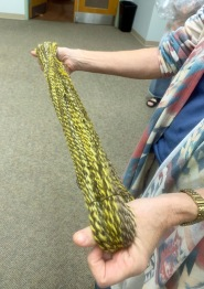 Linda spun a skein from Nancy's roving